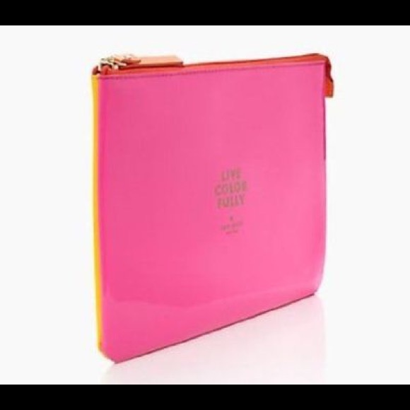f42d925a8bee Kate Spade Gia  Live Colorfully  Makeup Pouch New.  M 5af9c95b5512fdb4d8d05f34
